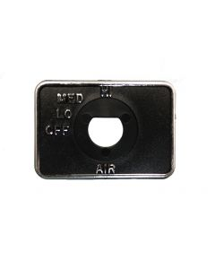 Faceplate,Square, 3 Speed